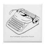 Tile Coaster with PTF logo 2 (white)