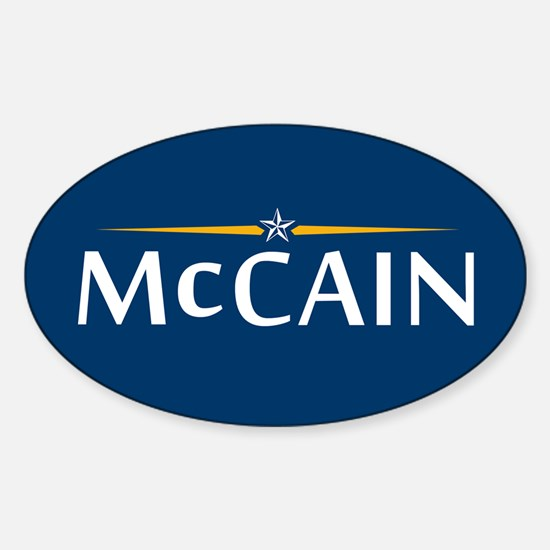 McCain For President Oval Decal