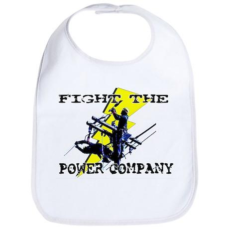 Fight The Power Company! Bib