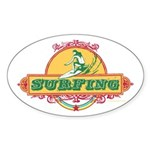 Surfing - Oval Sticker (10 pk)