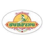 Surfing - Oval Sticker
