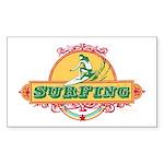 Surfing - Rectangle Sticker
