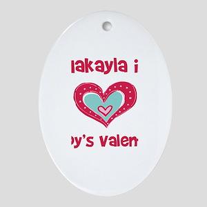 Makayla Is Daddy's Valentine Oval Ornament
