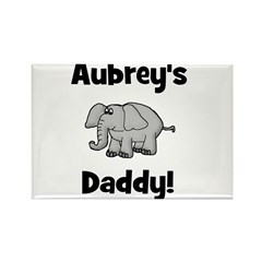 Aubrey's Daddy Elephant Rectangle Magnet