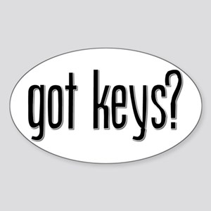 Got Keys? Oval Sticker