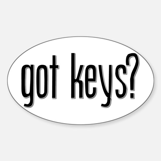 Got Keys? Oval Decal