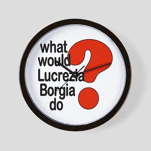 Lucrezia Borgia Wall Clock