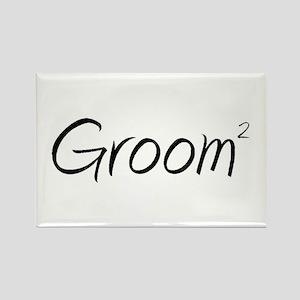 Groom (Squared) Rectangle Magnet
