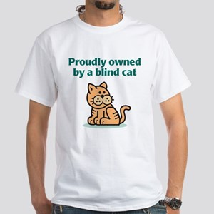 Proudly Owned (Cat) White T-Shirt