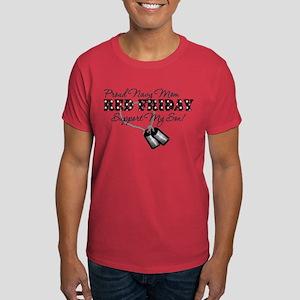 Proud Navy Mom, Support My Son! Dark T-Shirt