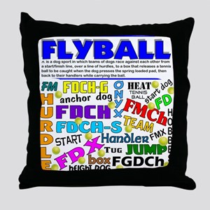 Canine Flyball Throw Pillow
