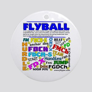 Canine Flyball Ornament (Round)