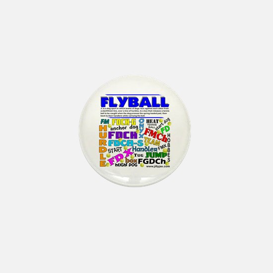 Canine Flyball Mini Button