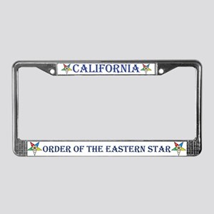 California OES License Plate Frame