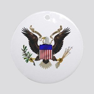 Great Seal Eagle Ornament (Round)