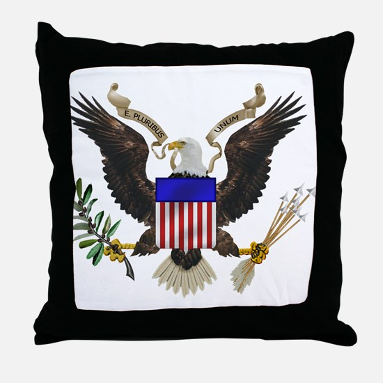 Great Seal Eagle Throw Pillow