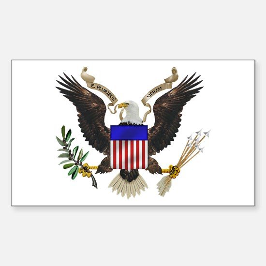 Great Seal Eagle Rectangle Decal