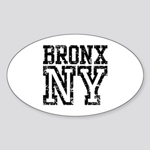 Bronx NY Oval Sticker