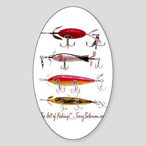 Fish, Fishing, Lure Oval Sticker