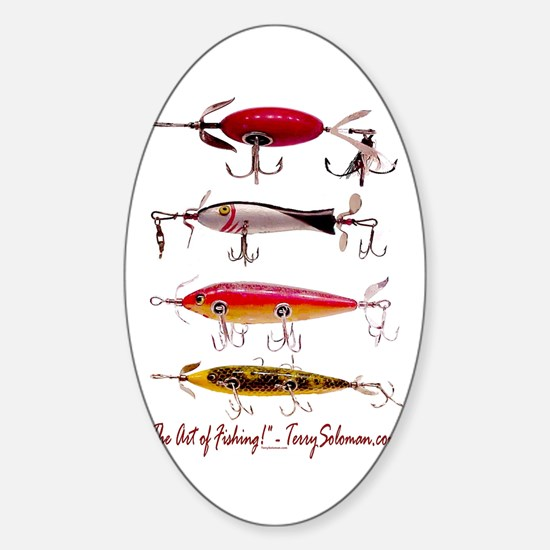 Fish, Fishing, Lure Oval Decal