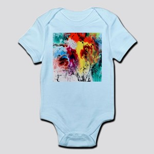abstract minimalist colorful watercolor Body Suit