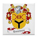 Bowman Family Crest Tile Coaster