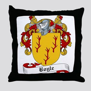 Boyle Family Crest Throw Pillow