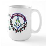 Masonic Peace on Earth Holiday Large Mug