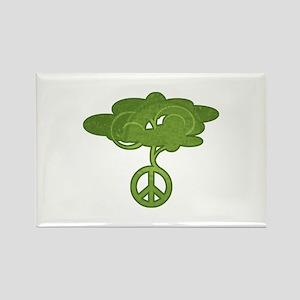 Peace Tree Rectangle Magnet