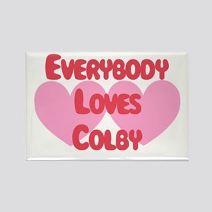 Everybody Loves Colby Rectangle Magnet