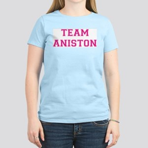 Team Aniston Women's Pink T-Shirt