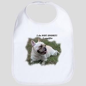 French bulldog Snort Bib