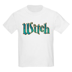 Turquoise Witch Text Wicca T-Shirt