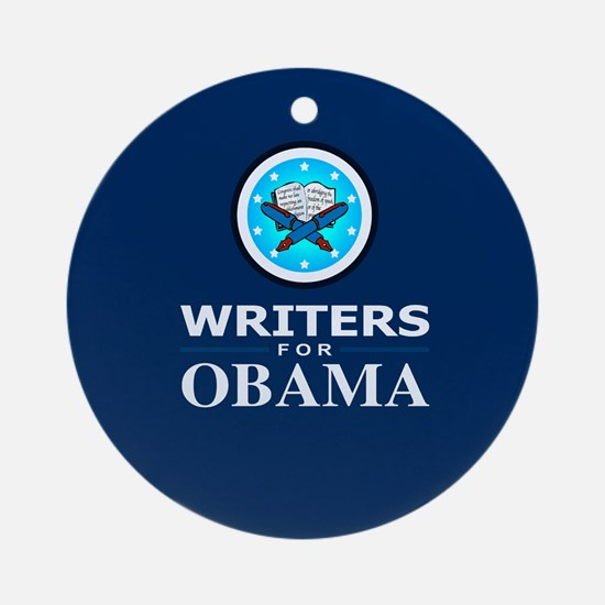WRITERS FOR OBAMA Ornament (Round)