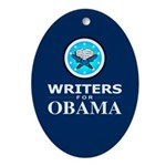 WRITERS FOR OBAMA Oval Ornament