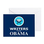 WRITERS FOR OBAMA Greeting Card