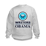 WRITERS FOR OBAMA Kids Sweatshirt