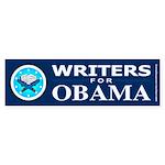 WRITERS FOR OBAMA Bumper Sticker (10 pk)