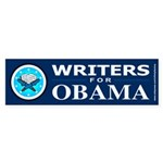 WRITERS FOR OBAMA Bumper Sticker