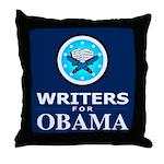 WRITERS FOR OBAMA Throw Pillow