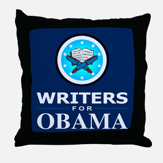 WRITERS FOR OBAMA Throw Pillow