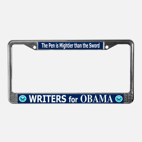 WRITERS FOR OBAMA License Plate Frame