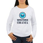 WRITERS FOR OBAMA Women's Long Sleeve T-Shirt