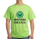 WRITERS FOR OBAMA Green T-Shirt