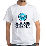 WRITERS FOR OBAMA White T-Shirt