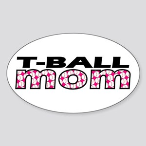 T-Ball Mom Oval Sticker