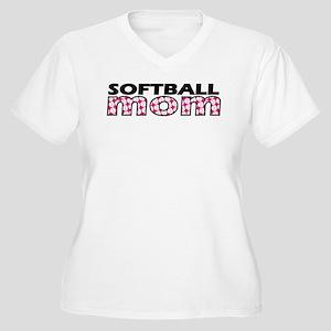 Softball Mom Women's Plus Size V-Neck T-Shirt