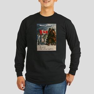 Fucking Canadians Long Sleeve Dark T-Shirt