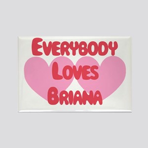 Everybody Loves Brianna Rectangle Magnet