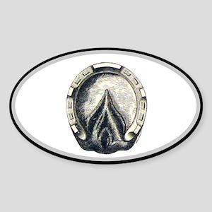 Horse Hoof Oval Oval Sticker